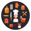 ������, ������: Cooking serve meals and food preparation elements