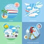 Mountain, cruise, air tourism — Stock Vector #67050281