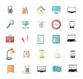 Office and time management icon set — Stock Vector
