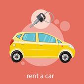 車を借りる — ストックベクタ