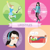 Lifestyles concepts — Stock Vector