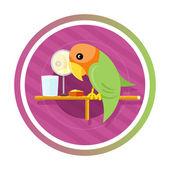 Orange green parro — Stock Vector