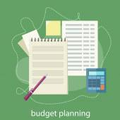 Budget planning concept — Stock Vector