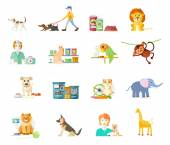 Set of home pets — Stock Vector