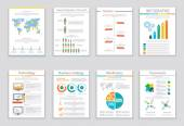 Infographic business brochures banners — Stockvektor