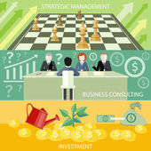 Strategic management, business consulting — Stock Vector