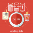 Постер, плакат: Deleting data files