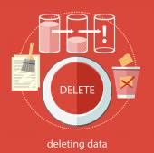 Deleting data files — Stock Vector