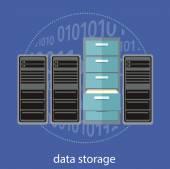 Concetto di archiviazione dati — Vettoriale Stock