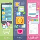 Concept of Mobile Application Store — Cтоковый вектор