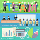 Business plan, search investors — Stock Vector