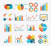 Infographic Set Graph and Charts, Diagrams — Stockvektor