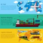 Shipping, delivery car, ship, plane — Stock Vector #70710459