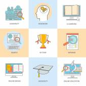 Online professional education — Stock Vector