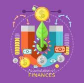 Accumulation of Finances Concept — Stock Vector