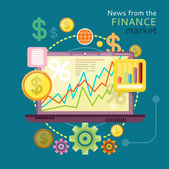 News from Finance Market — Stock Vector