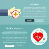 Medical and Health Insurance — Stock Vector