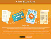 Pay Bills Online — Stock Vector