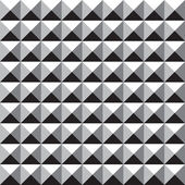 Seamless Square Stud Pattern Background - Black and White — Stock Vector
