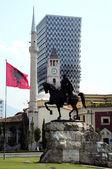 Skanderbeg Monument in Albania — Stock Photo