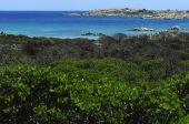 рассмотрите на пляж в сардинии — Стоковое фото