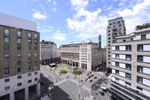 View to the square in Milan — Stock Photo