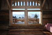 Interior of alpine house — Stock Photo