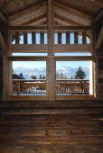 Interior de Casa Alpina — Foto de Stock