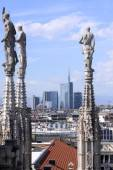 View to Milan city from Duomo — Stock Photo