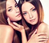 Beautiful girl twins — Stock Photo