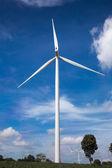 Wind turbine bauernhof — Stockfoto