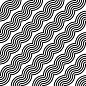 Design seamless monochrome zigzag geometric pattern — Stock Vector