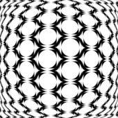 Design monochrome warped grid geometric pattern — Stock Vector
