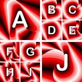 Diseño de cartas de abc de una j — Vector de stock