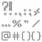 Design punctuation marks set — Stock Vector
