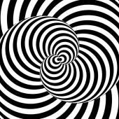 Design monochrome whirl movement illusion background — Stock Vector