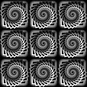 Entwurf nahtlose monochrome Wirbel verdrehen Muster — Stockvektor