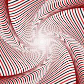 Design whirlpool movement illusion background — Stok Vektör