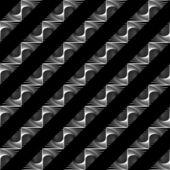 Design seamless monochrome geometric pattern — Stock Vector
