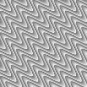 Design seamless monochrome zigzag wave pattern — Stockvector
