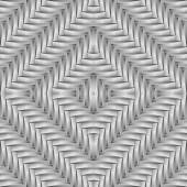 Design seamless monochrome diamond interlaced pattern — Stock Vector