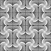 Design sömlös snurra rörelse randigt geometriska mönster — Stockvektor