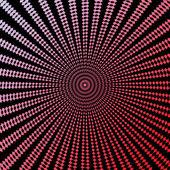 Design colorful circle movement illusion background — Stock Vector
