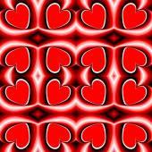 Design seamless heart pattern — ストックベクタ