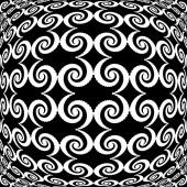 Design monochrome warped grid decorative pattern — Stock Vector