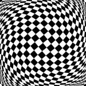 Design monochrome motion illusion checkered background — Stock Vector