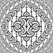 Design monochrome decorative interlaced pattern — Stock Vector