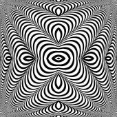 Design monochrome whirl illusion background — Stock Vector
