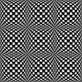 Design seamless monochrome warped grid pattern — Stock Vector