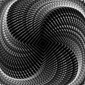 Disegno monocromatico whirlpool movimento sfondo geometrico — Vettoriale Stock